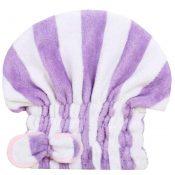 Super-Absorbent Dry Hair Cap Shower Cap Female Dry Hair Towel Purple Stripe – KE-BEA11056571-LILY00877