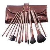 12-Pcs Portable Animal Wool Cosmetic Brush Kit Makeup Brushes Set+ Case,Coffee – KE-BEA11059451-YUKI00941