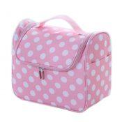 Lovely Cosmetic Box Makeup Box Large Capacity Makeup Bags, White Dots – KE-BEA11062771-AMANDA05375