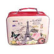 PU Romantic Tower Makeup Box Storage Bag Makeup Bags Cosmetic Box, H – KE-BEA11062771-JELLY00215