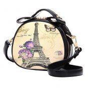 Elegant Single Shoulder Strap Bag Retro Ladies  Round Small Bag Pu Handbag Simple Leisure – KE-BEA11062791-GLORIA01159