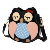 Girls Leisure Owl Handbags Handbag Lovely  Purse Bag Single Shoulder Strap Bag  Pu   Personality – KE-BEA11062791-GLORIA01164