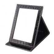 High Quality PU Leather Portable/Foldable Mirror For Makeup/Travel, Black – KE-BEA11063411-AMANDA02416