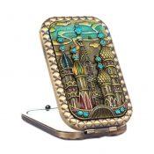 Retro Portable Folding Cosmetic Mirror Vintage Pattern Make-up Mirror, #4 – KE-BEA11063411-AMANDA07172