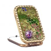 Retro Portable Folding Cosmetic Mirror Vintage Pattern Make-up Mirror, #12 – KE-BEA11063411-AMANDA07180