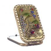 Retro Portable Folding Cosmetic Mirror Vintage Pattern Make-up Mirror, #13 – KE-BEA11063411-AMANDA07181