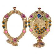 Elegant Makeup Mirror Vintage Metal Silver Mirror Folding Cosmetic Mirror  C – KE-BEA11063411-NICOLE02151