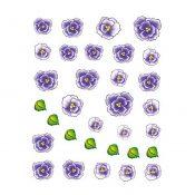 5Pcs Beautiful Flowers Pattern Nail Art Tips Decoration Sticker, BLE2024 – KE-BEA11063481-AMANDA03104