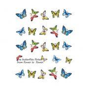 5Pcs Beautiful Butterfly Pattern Nail Art Tips Decoration Sticker, BLE2014 – KE-BEA11063481-AMANDA03116