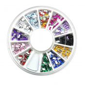 4 Boxes of 12 Mixed Colors Rhinestones DIY Nail Rectangle – KE-BEA11063481-FIONA00371