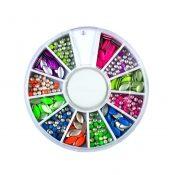 3D Design Nail Art Different DIY Nail Art Diamond Stud Wheel Manicure, O – KE-BEA11063481-JELLY03024