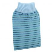 Loofah Sponge Scrubber Bath Sponge Wash Towel Bathing Glove Stripe Design Blue – KE-BEA11149327011-AMY01895
