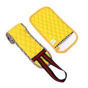 2 PCS Loofah Sponge Wash Towel Bath Gloves Bath Sponge Yellow A – KE-BEA11149327011-AMY03565