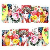 3 Sheet Nail Art Sticker Nail Decal Full Nail Wrap Art Chinese Peking Opera (C ) – KE-BEA13106421-NICOLE00932