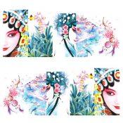 3 Sheet Nail Art Sticker Nail Decal Full Nail Wrap Art Chinese Peking Opera (D ) – KE-BEA13106421-NICOLE00933