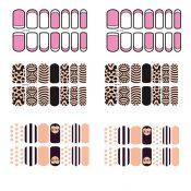 [6 Sheet]Nail Art Sticker Nail Decal Full Nail Wrap Nail Art Tattoo-Pattern C – KE-BEA13106421-YUKI00912