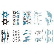 10 Sheets Fashion Body Art Stickers Removable Waterproof Temporary Tattoos ( A ) – KE-BEA702384011-NICOLE00868