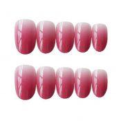 False Fingernails Gradient Color Rosy Pink Artificial False Nails Tips Full Cover Fake Nails – PL-BEA11062281-DORIS00483-RP