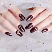 Crineous Beads False Fingernails Artificial False Nails Tips Wedding Nail Art Decoration – PL-BEA11062281-DORIS00485-RP
