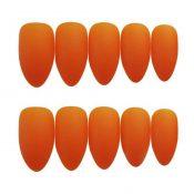 Summer Orange False Fingernails Matte Artificial False Nails Tips Full Cover Fake Nails for Office Daily Party – PL-BEA11062281-DORIS01778-RP