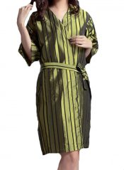 Beauty Salon Straight Strip Gown Robes Hairdressing Gown for Clients, Green – PS-BEA10865957011-YAN01591