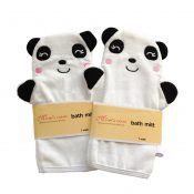 [Set of 2] Durable Soft Cute Baby/Kids Bath Sponge/Mitt/Gloves, Panda – PS-BEA11056511-YUKI01208