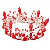 Beautiful Alloy Material Rhinestone Bride Wedding Head Accessories Crown – PS-BEA11058011-ALIEN01260