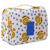 Cartoon Yellow Smiling Face Cosmetic Foldable Storage Bag Handbag – PS-BEA11062771-VGRAM00905