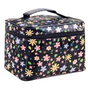 2 Pcs Durable Floral Clamshell Cosmetic Storage Bag Hand Bag – PS-BEA11062771-VGRAM00925