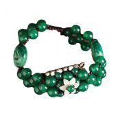 Hand Made Woven Bracelet Vintage Charm Bracelets Metal and Agate Bracelets – PS-BEA13106071-DORIS00527