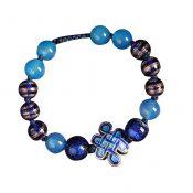 Ethnic Cloisonn Pattern Glass and Agate Bracelets Elegant Charm Bracelets – PS-BEA13106071-DORIS00532