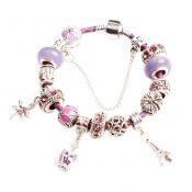 Coloured Glaze Bracelet Great Gift for Girl Popular Leather Cord Bracelet PURPLE – PS-BEA13106071-SUE00959