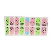 [Set of 2]Easily Apply 12 PCS Artificial Nail Polish Sticker,Little Monster – PS-BEA13106071-YUKI01138