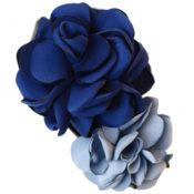 Mixed Colored Simulation Flower Rose Hair Clip Hairpin Headdress Flower(Blue) – PS-BEA3784391-DALISH00282