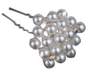 10 PCS Elegant Beads White Hair Pins/Clips Headwears – PS-BEA3784391-KARY00747