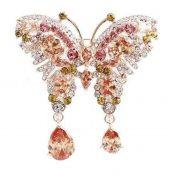 Female Crystal Butterfly Brooch Rhinestones Brooch Retro Fashion Brooch – PS-BEA3784391-LILY01490