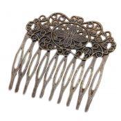 3 Pcs Retro Bronze 10 Teeth Side Comb Metal Hair Clip Hair Comb Flower Vine Cirrus Decorative Comb – PS-BEA3784401-DORIS00077-RP