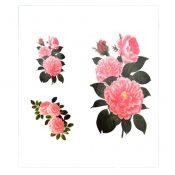 Sexy Pink Chinese Peony Blossom Body Tattoo Stickers Waterproof Fake Tattoos – PS-BEA6344642011-JESSICA00224
