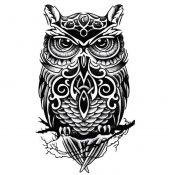 Cool Owl Pattern Tattoos Body Tattoo Stickers Waterproof Temporary Fake Tattoos – PS-BEA6344642011-JESSICA00269