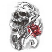 Black Fake Body Tattoos Fashion Tattoos Stickers Individual Styles Tattoo Design – PS-BEA6344642011-SUE01286