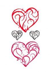1 Set Of Creative Heart-shaped Pattern Tattoo Stickers Waterproof – PS-BEA702382011-SUSAN01851