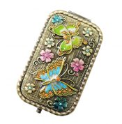 Vintage Travel Pocket Mirror Compact Handbag Mirror Mini Purse Makeup Mirror #6 – ST-BEA3785121-ERIC00061
