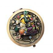 Vintage Round Pocket Mirror Compact Handbag Mirror Mini Purse Makeup Mirror, A-1 – ST-BEA3785121-ERIC00062