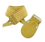 Bath Strips and Bathing Gloves, Rubbing Exfoliating Bath Brushes(Yellow) – DS-HEA11056511-AIMEE02700