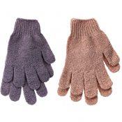 5 Pairs Shower Exfoliating Wash Skin Spa Foam Bath Gloves Massage Gloves – EM-HEA11056511-GIYA02173
