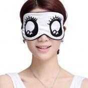 Sleeping Eye Mask Silk Sleep Mask Eye-shade BreatheFreely Aid-sleeping Big Eyes – KE-HEA11056541-AMY01681