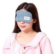 Cute Personality Shade Sleep Mask Adjustable Eye Cover Soft Sleep Mask, Blue Lattice – KE-HEA11056541-TINY00711