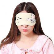 Cute Personality Shade Sleep Mask Adjustable Eye Cover Soft Sleep Mask, Yellow Eyes – KE-HEA11056541-TINY00714
