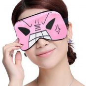 Silk Sleep Mask Breathable Eye Care Comfortable Sleep Mask Eye-shade Aid-sleeping, Pink Angry Face – KE-HEA11056541-TINY00731