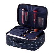 Large Capacity Travel Cosmetic bag,Makeup Bag Set Waterproof,Blue Feathers – DS-HOM3743871-KATY00002